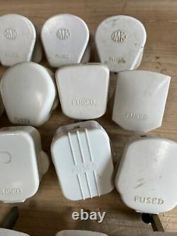 22 X Vintage Ivory White 13 Amp 3 Pin Mains Plug