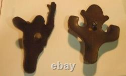 (2) VINTAGE 1940'S BAKELITE KILROY PIN BROOCH POCKET CLIPS rare