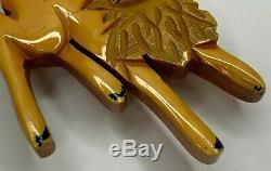 Bakelite Bambi Brooch Martha Sleeper Butterscotch Bakelite Pin Vintage Disney