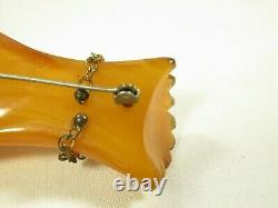 Bakelite Carved Hand Brooch Bracelet Originial Vintage Pin