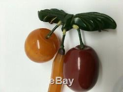 Bakelite Chunky Fruit Pin Vintage Buy It Now