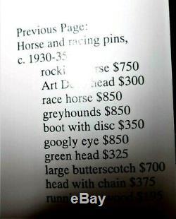 Best Vtg Bakelite Butterscotch Carved Horse Head Brooch PIN 3- Book Piece