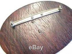 LARGEST 1940s Vintage CANADIAN GEESE Wood & BAKELITE Brooch PIN