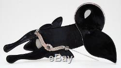 Lea Stein Paris Vintage Resin Bakelit 3D Animal Pin Brooch Pink Blue Black Fox