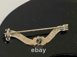 Lea Stein Paris Vtg Gomina Sleeping 3 Cat Brooch Pin Signed Plastic Bakelite