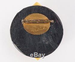 Millie Vintage 1950s Mid Century Bakelite and Wood Brooch/Pin