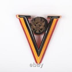 RARE Vintage 1940's WWII U. S. Bakelite Patriotic V is for Victory Brooch PIN