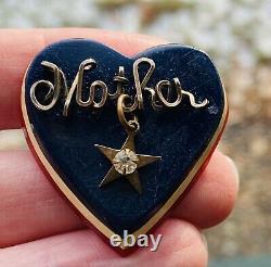 RARE Vintage Patriotic Red White Blue WW2 Mother Sweet Heart Bakelite Brooch Pin