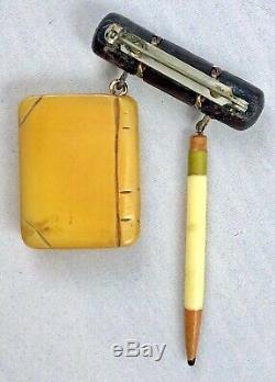 Rare Martha Sleeper Schools Days Bakelite Pin Near Mint Original Vintage Brooch