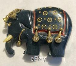 Rare Vintage BAKELITE Elephant PIN Bakelite Chinoiserie Elephant Pin