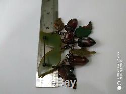 Rare vintage bakelite accorn pin brooch