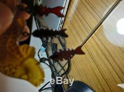 Rare vintage bakelite dangling fish pin brooch