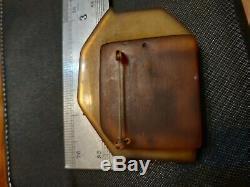 Rare vintage bakelite dog pin brooch unique