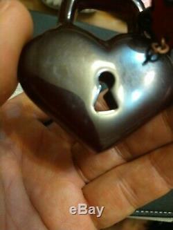 Rare vintage cherry amber bakelite pin brooch key to heart