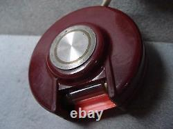 SECURITY LIGHT BAKELITE MAGNET FOR VINTAGE CAR DESIGN MADE ITALY MAGLUX PIN 50s