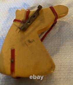 VINTAGE Bakelite Horsehead Pin