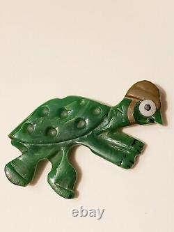 VTG Bakelite Cartoon Character Cecil the Turtle Tortoise & the Hare Pin/Brooch