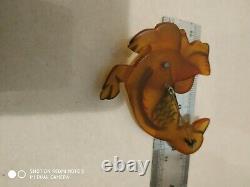 Very rare vintage bakelite pin brooch duck pin brooch movable