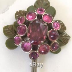 Vintage 1930's Signed B. Blumenthal Bakelite Flower Pin Brooch