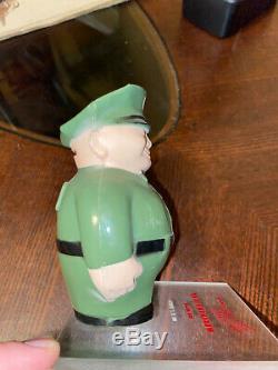 Vintage 1940's Bakelite Plastic Texaco Sam The Unitog Man Bank and Texaco Pins