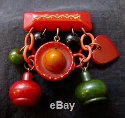 Vintage 40's Bakelite Fiesta Pin