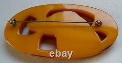 Vintage Art Deco Bakelite Dog Pin Brooch Afghan Hound Large Pin Over 3