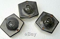 Vintage BAKELITE TOGGLE LIGHT Switch Pin & Holder 16 pcs Mix lot England