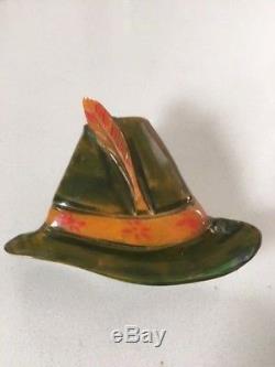 Vintage Bakelite 1940's Hat Pin Brooch