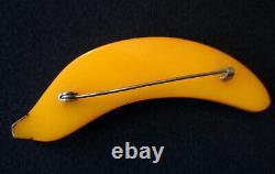 Vintage Bakelite Banana Brooch Pin Darling! Rare