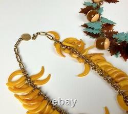 Vintage Bakelite & Celluloid Plastic Necklaces & Pin Brooch