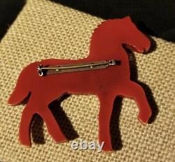 Vintage Bakelite Figural Horse Brooch Pin