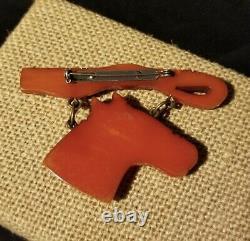 Vintage Bakelite Figural Horse Dangle Brooch Pin