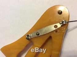 Vintage Bakelite Hand Painted Articulated Swing Neck Giraffe Pin Brooch 1930's
