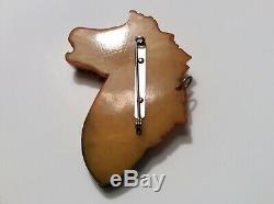 Vintage Bakelite Horse Head Pin