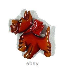 Vintage Bakelite Huge Scotty Dog PinBroach