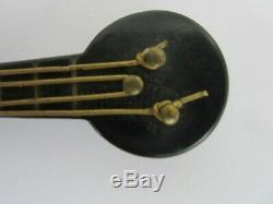 Vintage Bakelite Lucite Banjo pin brooch1930s 40s art deco musical instrument
