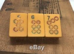 Vintage Bakelite Majong Tile Brooch Pin 567 Midcentury Modern MCM 50s 60s