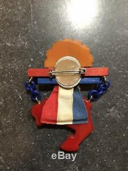 Vintage Bakelite Patriotic Anchor Star Pin