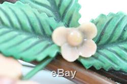 Vintage Bakelite Peach Branch with Peaches Brooch/Pin