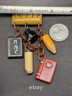 Vintage Bakelite School brooch Pin Martha Sleeper