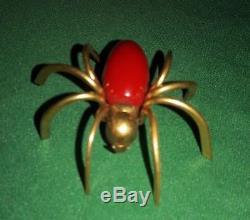 Vintage Bakelite Spider Brooch Pin Figural