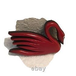 Vintage Bakelite Swan Pin. Very Rare