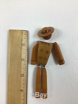 Vintage Bakelite US Soldier Pin NEEDS REPAIR