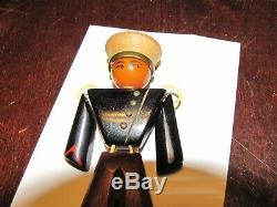 Vintage Bakelite catalin & Wood WW II Era navy Sailor Pin