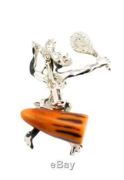 Vintage Charles F. Worth Bakelite African Native Pin Brooch Blackamoor