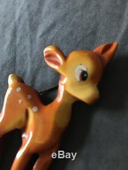 Vintage Disney Bambi bakelite pin martha sleeper