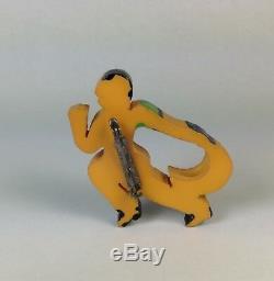 Vintage Jai Alai Bakelite Pin Brooch