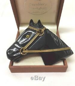 Vintage Jewellery 1940's Super Bakelite Horse Head Brooch Pin