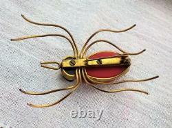 Vintage Jewellery Large Art Deco Bakelite Spider Brooch Pin Stunning