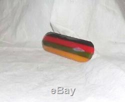 Vintage Laminated Bakelite Pin Four Color / Philadelphia Style